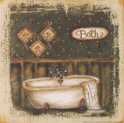 Bath fine art print by grace pullen at for Pataka bano food mat