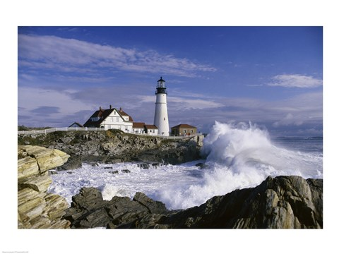 Portland Head Lighthouse Cape Elizabeth Maine Usa Fine Art
