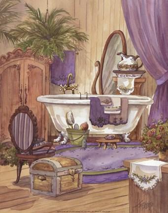 Victorian Bathroom I Fine Art Print By Jerianne Van Dijk