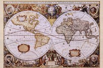 Map of the World (antique style)  Wall Poster