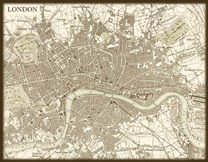 Sepia Map Of London