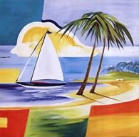 Sailing the Caribbean I  Fine-Art Print