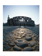 Low angle view of an old ruin, Colosseum, Rome, Italy