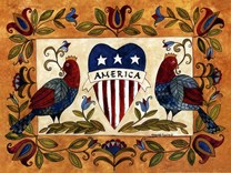 Patriotic Bird Sampler