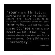 Time Quote  Fine-Art Print