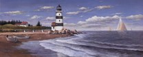 T.c. Chiu - Lighthouse by Daylight Size 8x20