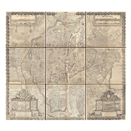 1652 Gomboust 9 Panel Map of Paris, France