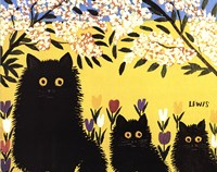 Three Black Cats Fine-Art Print