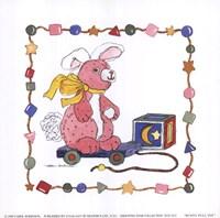 Bunny Pull Toy Fine-Art Print