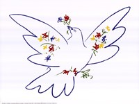Dove with Flowers Fine-Art Print