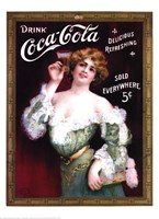Coca-Cola Lady in Green Dress Fine-Art Print