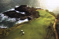 Golf Course, Hawaii Coast Wall Poster