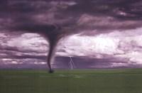 Tornado And Lightning On Field Fine-Art Print