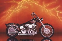 Motorcycle - Custom, 1997 Wall Poster