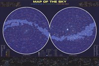 Map of the Night Sky Wall Poster