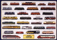 Modern Locomotives Wall Poster