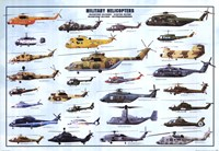 Helicopters Wall Poster