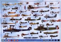 World War I Aircraft - blue Wall Poster