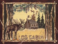 Log Cabin Moose Fine-Art Print