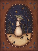 Snowman with Crows Fine-Art Print