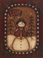 Love Snowman Fine-Art Print