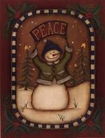 Peace Snowman Fine-Art Print