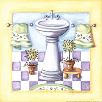 Yellow Bathroom - Sink Fine-Art Print