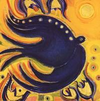 Oiseau Et Colombe Bleus Fine-Art Print