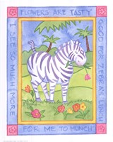 Munching Zebra Fine-Art Print