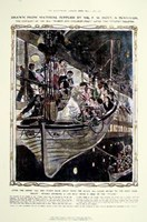 Titanic: Women and Children Hand Colored Print