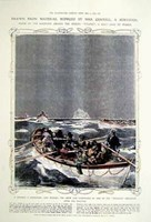 Titanic: Lifeboats Hand Colored Print