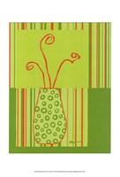 Minimalist Flowers in Green II Fine-Art Print