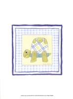 Turtle with Plaid (PP) III Fine-Art Print