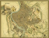 Map of Rome Fine-Art Print