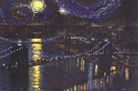 Starry Night over Brooklyn Bridge Fine-Art Print
