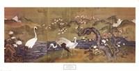 Cranes Along a River Fine-Art Print