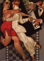 Tango a Robe Rouge Fine-Art Print