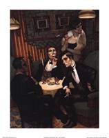 Cigar, Cognac in the Salon Fine-Art Print