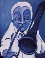 Blue Jazzman III Fine-Art Print