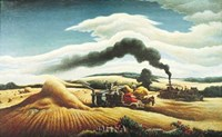 Threshing Wheat Fine-Art Print