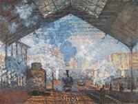 La Gare Saint-Lazare Fine-Art Print