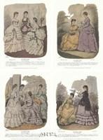 French Fashion Set (Set of Four) Fine-Art Print