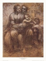 The Virgin and Child with St. Anne Fine-Art Print