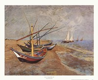 Boats at Saint-Maries, 1888 Fine-Art Print