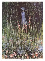 Madame Monet in Her Garden at Giverny Fine-Art Print