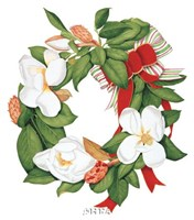 Magnolia Wreath Fine-Art Print