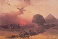 Approach of the Simoon, Desert of Gizeh Fine-Art Print
