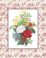 Camellias and Toile Fine-Art Print