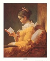 A Young Girl Reading Fine-Art Print