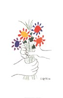 Bouquet with Hands Fine-Art Print